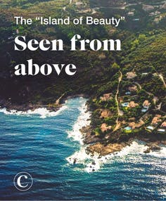 """The """"Island of Beauty"""" seen from above"""