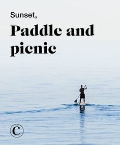 Sunset, paddle and picnic