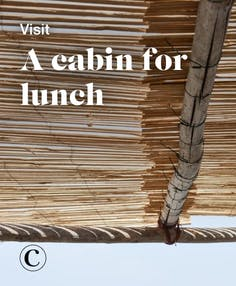 Visit a cabin for lunch