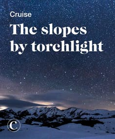 Cruise the slopes by torchlight