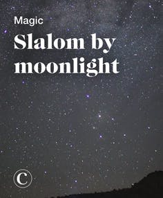 Magic slalom by moonlight