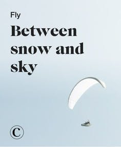 Fly between snow and sky