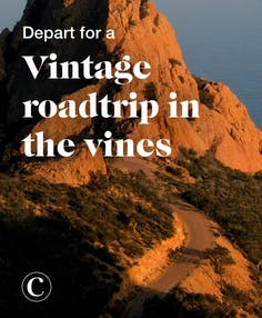 Depart for a vintage roadtrip in the vines