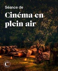Séance de cinéma en plein air