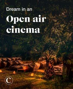 Dream in an open air cinema