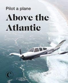 Pilot a plane above the Atlantic