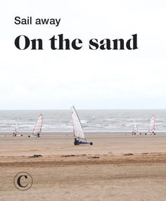 Sail away on the sand