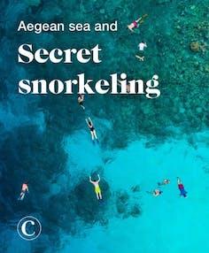 Aegean sea and secret snorkeling