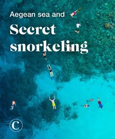 Aegean sea and secret snorkeling