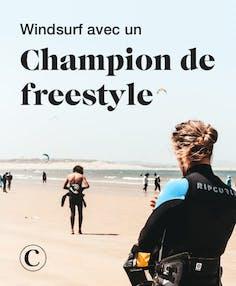 Windsurf avec un champion de freestyle