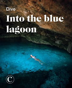 Dive into the blue lagoon