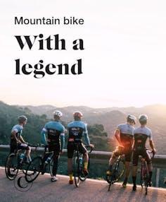 Mountain bike with a legend
