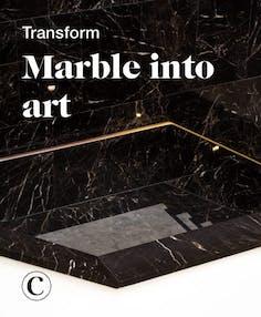 Transform marble into art