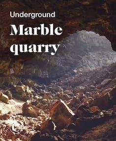 Underground marble quarry