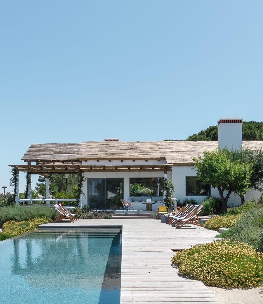 Swimming pool in luxurious garden