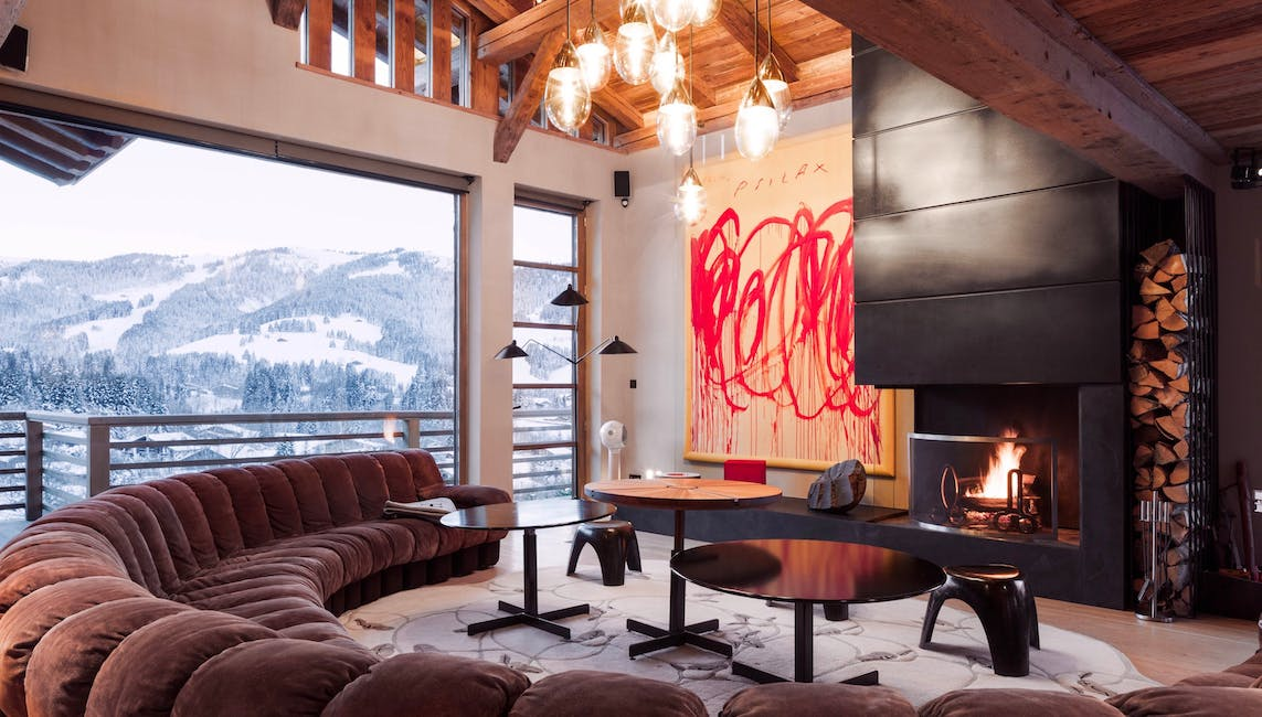 Chalet with art in Megeve